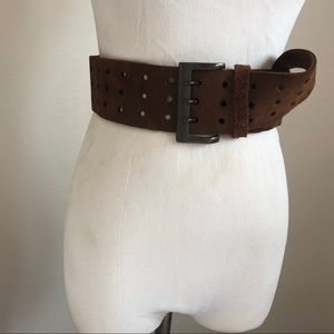 Vintage Abercrombie & Fitch leather Suede Belt S